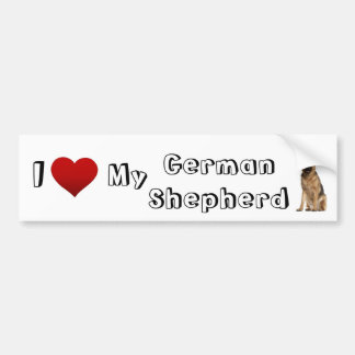 I love my german shepherd (2) bumper sticker