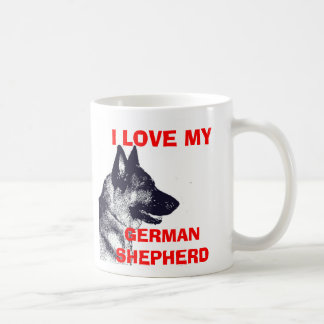 I LOVE MY GERMAN SHEPHERD COFFEE MUG