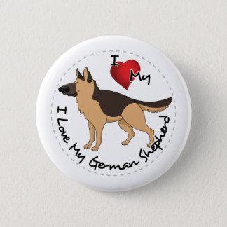 I Love My German Shepherd Dog 2 Inch Round Button