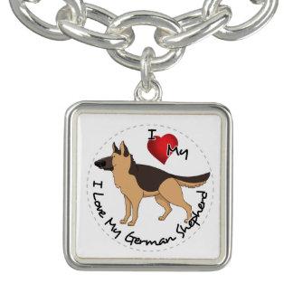 I Love My German Shepherd Dog Bracelet