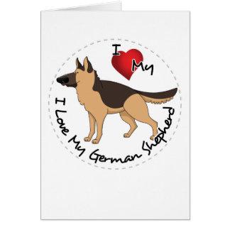 I Love My German Shepherd Dog Card