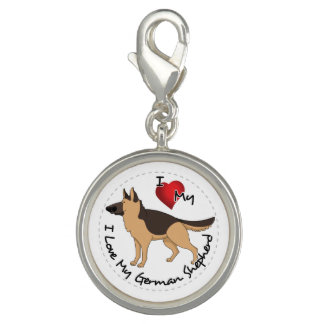 I Love My German Shepherd Dog Charm