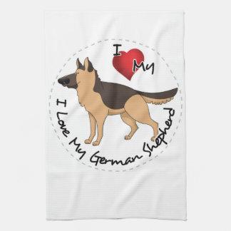 I Love My German Shepherd Dog Kitchen Towel