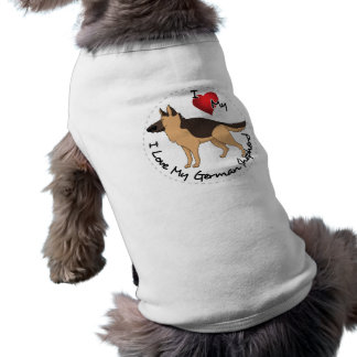 I Love My German Shepherd Dog Shirt