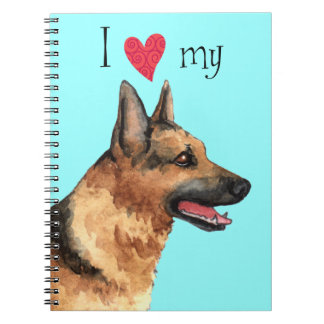 I Love my German Shepherd Notebooks