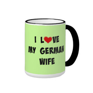 I Love My German Wife Ringer Mug