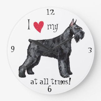 I Love my Giant Schnauzer Clocks