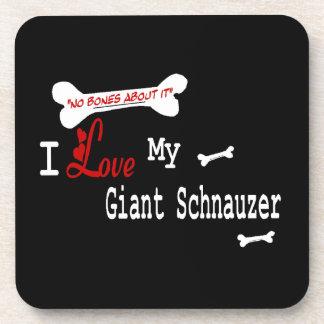 I Love My GIANT SCHNAUZER Coaster