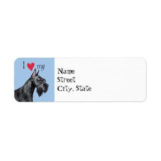 I Love my Giant Schnauzer Return Address Label