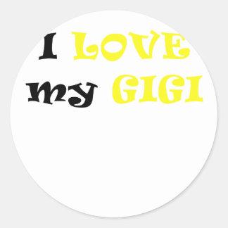 I Love my Gigi Classic Round Sticker