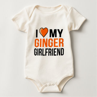 I Love My Ginger Girlfriend Baby Bodysuit