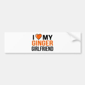I Love My Ginger Girlfriend Bumper Sticker