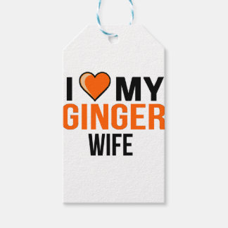 I Love My Ginger Wife Gift Tags
