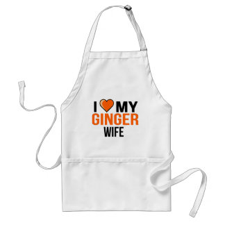 I Love My Ginger Wife Standard Apron
