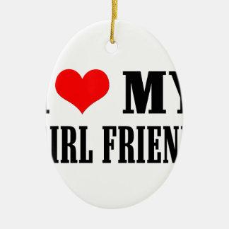 i love my girl friend ceramic ornament