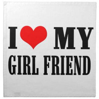 i love my girl friend napkin