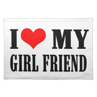 i love my girl friend place mat