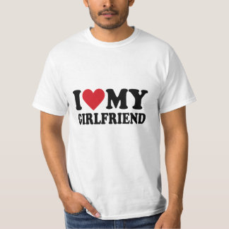 I Love My Girlfriend Men's Hanes T-Shirt