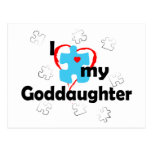 I Love My Goddaughter - Autism Postcard