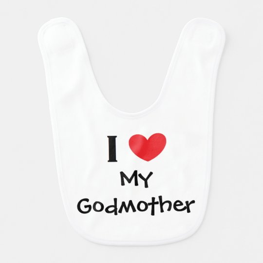 """I Love My Godmother"" Baby Bib"