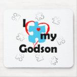 I Love My Godson - Autism Mouse Pad