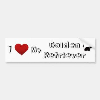 i love my golden bumper sticker
