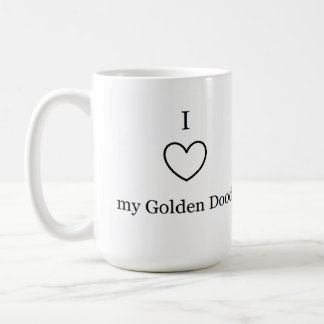 I Love my Golden Doodle Mug! Coffee Mug