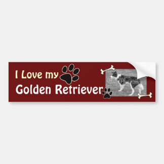 I love my Golden Retriever Bumper Sticker