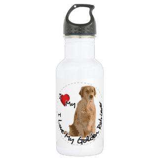 I Love My Golden Retriever Dog 532 Ml Water Bottle