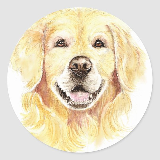 I Love my Golden Retriever, Dog, Pet Classic Round Sticker