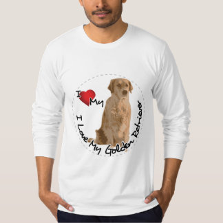 I Love My Golden Retriever Dog T-Shirt