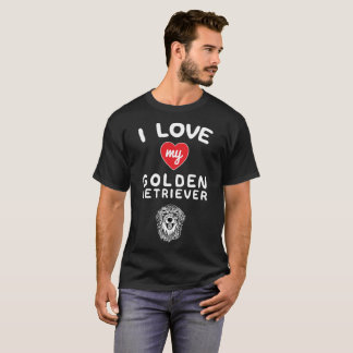 I love my Golden Retriever Face Graphic Art T-Shirt