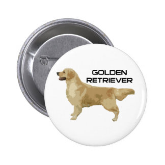 I Love My Golden Retriever Products & Designs! 2 Inch Round Button