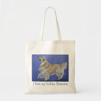 I love my Golden Retriever! Tote Bag