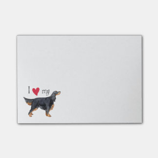 I Love my Gordon Setter Post-it Notes