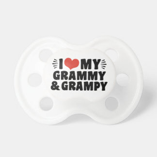 I Love My Grammy And Grampy Baby Pacifier