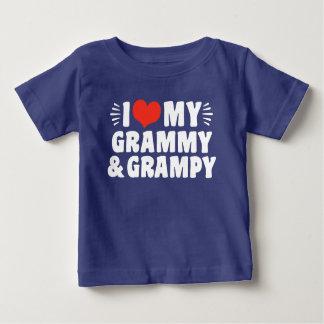 I Love My Grammy And Grampy Baby T-Shirt