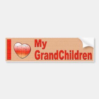 I LOVE MY GRANDCHILDREN BUMPER STICKER