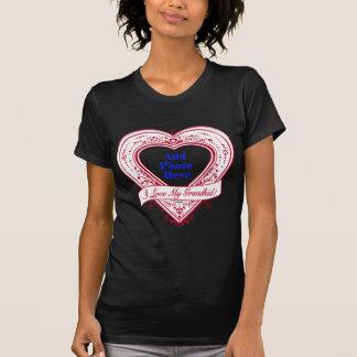 I Love My Grandkid! Photo Red Hearts T-Shirt