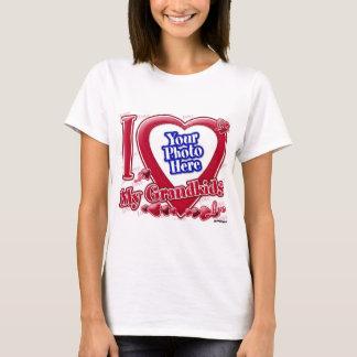 I Love My Grandkids red heart - photo T-Shirt