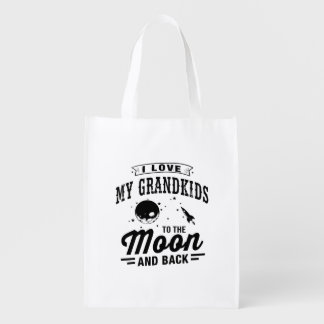 I Love My Grandkids To The Moon And Back Reusable Grocery Bag