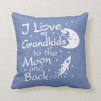 I Love My GrandKids to the Moon and Back Throw Pillow