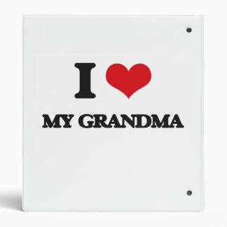 I Love My Grandma Binders
