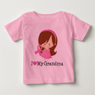 I Love My Grandma Breast Cancer Ribbon Tee Shirts