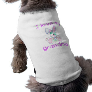 I love my grandma (girl bunny) doggie shirt