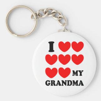 I Love My Grandma Keychain
