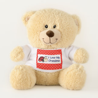 I Love My Grandma Ladybug Teddy Bear