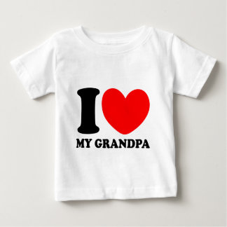 I Love My Grandpa Baby T-Shirt