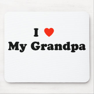I Love My Grandpa Mousepad