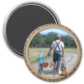 I Love My Grandpa Photo Magnet